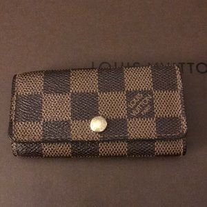 Authentic Damier Ebene 4 Key Holder: Pre-Loved